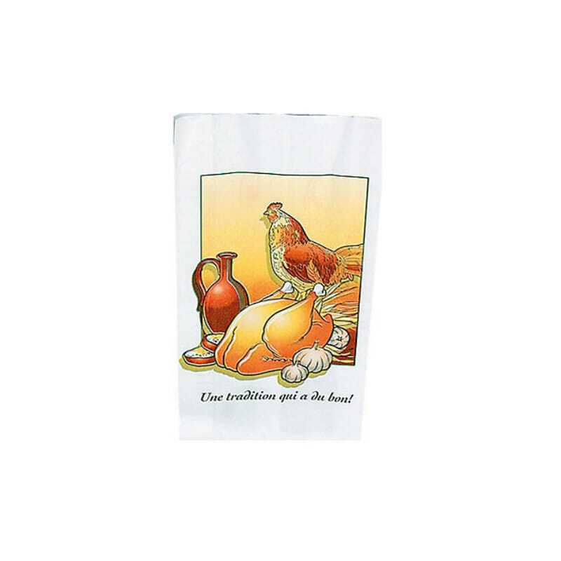 Sac Thermoscellable pour Poulet Rôti - 18 x 35,5 cm - Lot de 500 FourniResto - 1