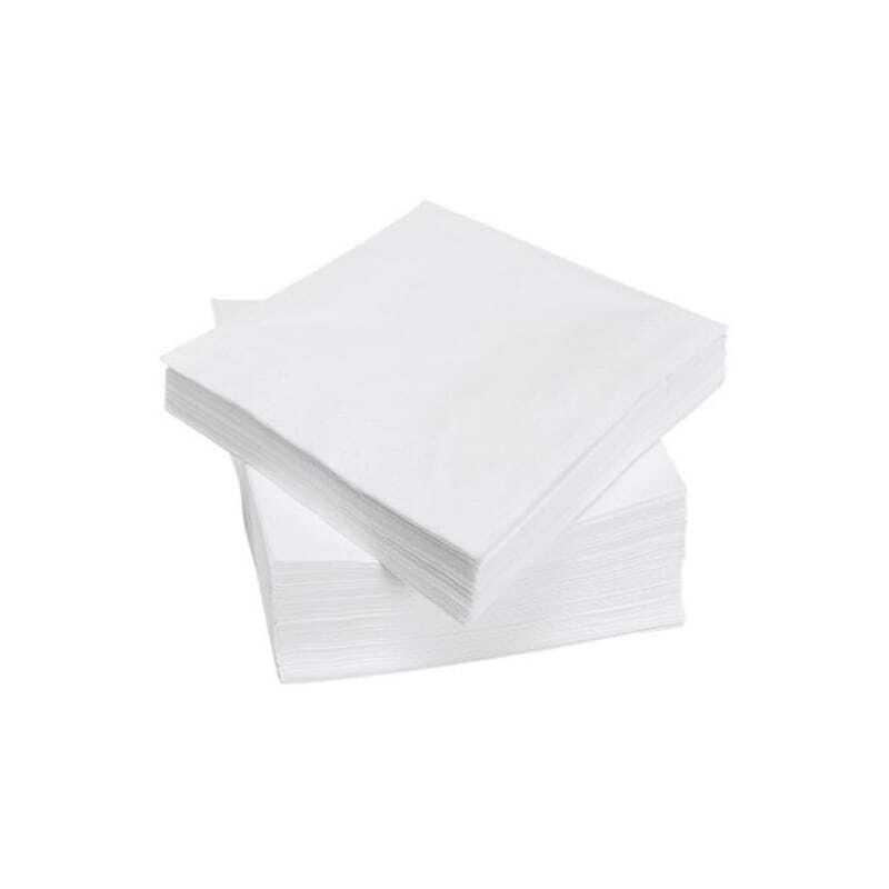 Serviettes Papier Blanches - 30 x 30 cm - Lot de 3200 FourniResto - 1