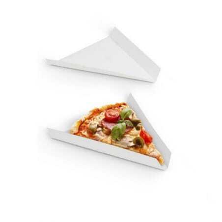 Part Triangulaire à Pizza Ingraissable - 19 x 17 cm - Lot de 250 FourniResto - 1