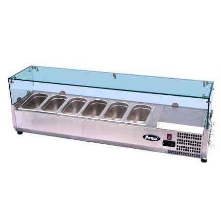 Saladette vitrée à poser pour bac GN1/4 FourniResto - 1