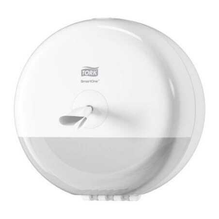 Mini Distributeur pour Papier Toilette Rouleau Blanc - Tork SmartOne® Tork - 1