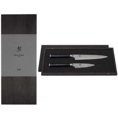 Set de 2 couteaux Damas Shun - Office et Universel KAI - 1
