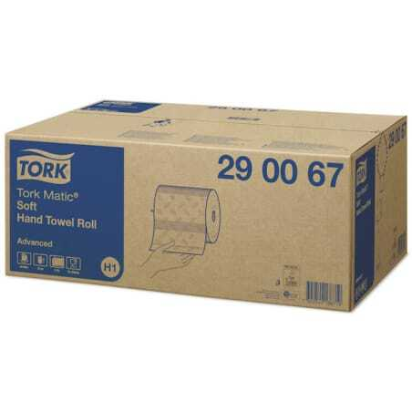 Rouleau Essuie-Mains Doux Advanced Blanc - Tork Matic® - Lot de 6 Tork - 1