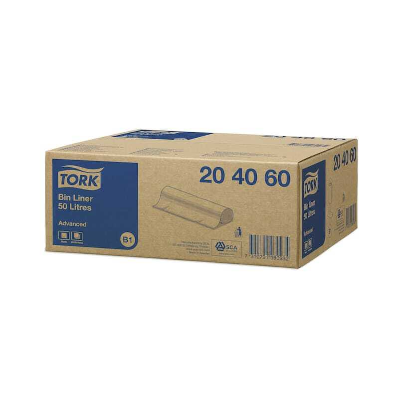 Sacs Poubelle 50L - 10 Lots de 25 Tork - 1