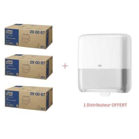 Starter Pack Distributeur pour Essuie-Main Blanc et Rouleaux Essuie-Mains Doux Advanced Tork - 1