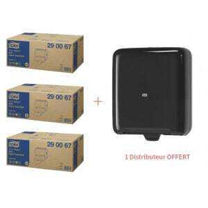 Starter Pack Distributeur pour Essuie-Mains Rouleau TorkMatic Noir et Rouleaux Essuie-Mains Doux Advanced Tork - 1