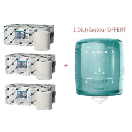 Starter Pack Distributeur à Dévidage Central et Papiers d'Essuyage Plus Tork - 1