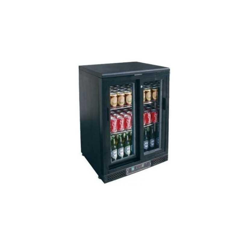 Arrière-Bar Réfrigéré Skinplate - 1 Porte Vitrée Coulissante FourniResto - 1