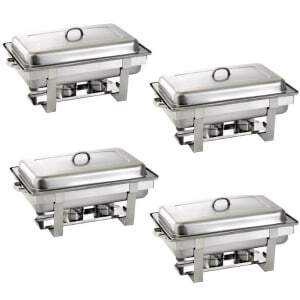 Pack 4 Chafing Dish GN 1/1 - Empilable Bartscher - 1