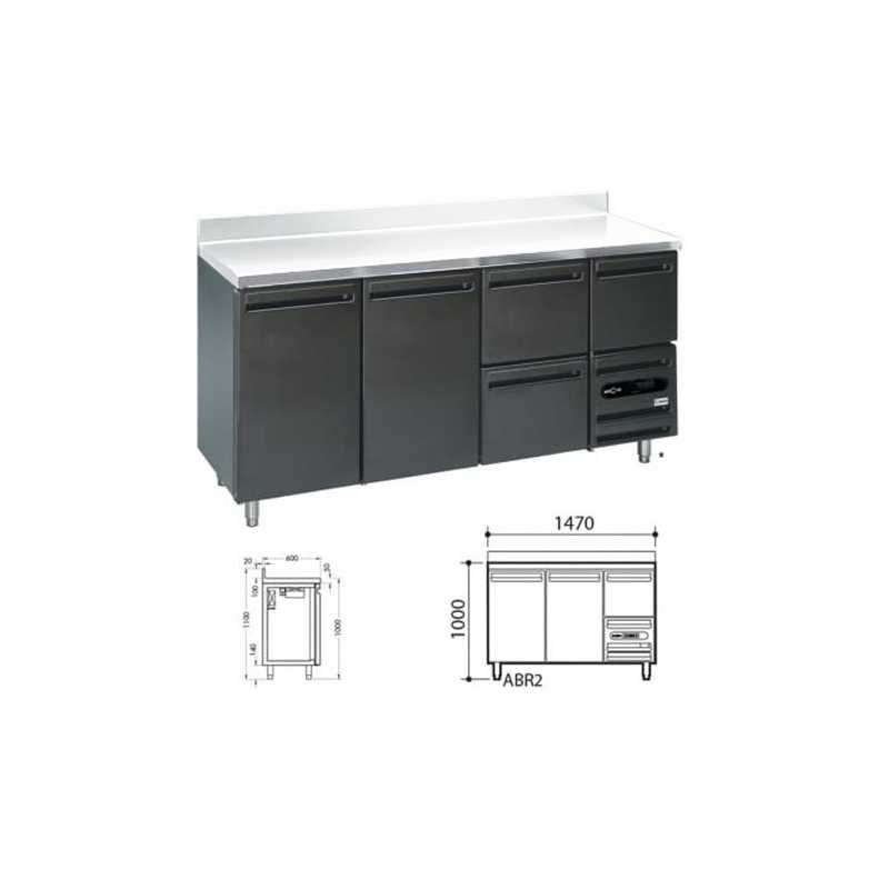 Arrière-Bar Skinplate 2 portes Sans Dessus - Prof 600 mm FourniResto - 1