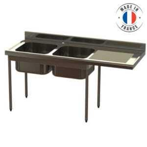 Plonge 2 Bacs PREMIUM - Spéciale Lave Vaisselle SOFINOR - 1
