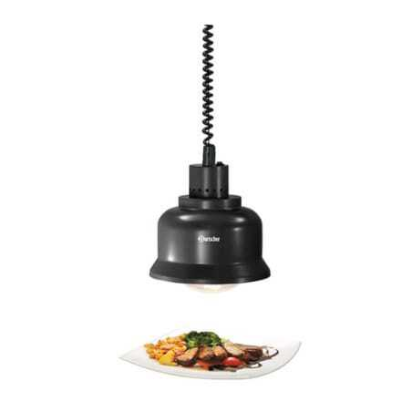 Lampe Chauffante Infrarouge Noire Bartscher - 1