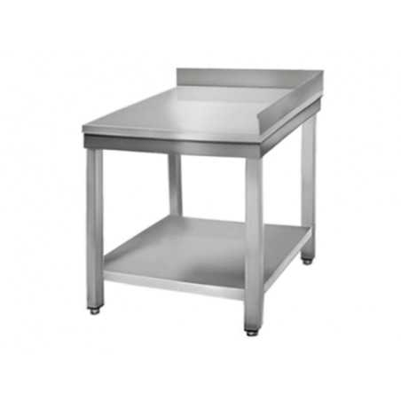 Table Inox Avec Dosseret en Angle - Profondeur 700 Mm FourniResto - 1