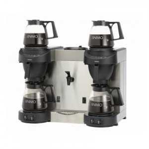Machine à Café Double et Robinet d'Eau Chaude M202W - Raccordement à l'Eau ANIMO - 1