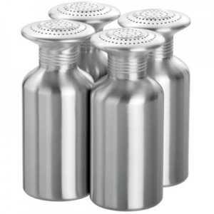 Lot de 4 Salières en Aluminium - 19 cm Bartscher - 1