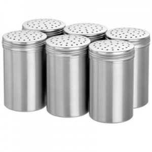 Lot de 6 Salières en Aluminium - 11 cm Bartscher - 1