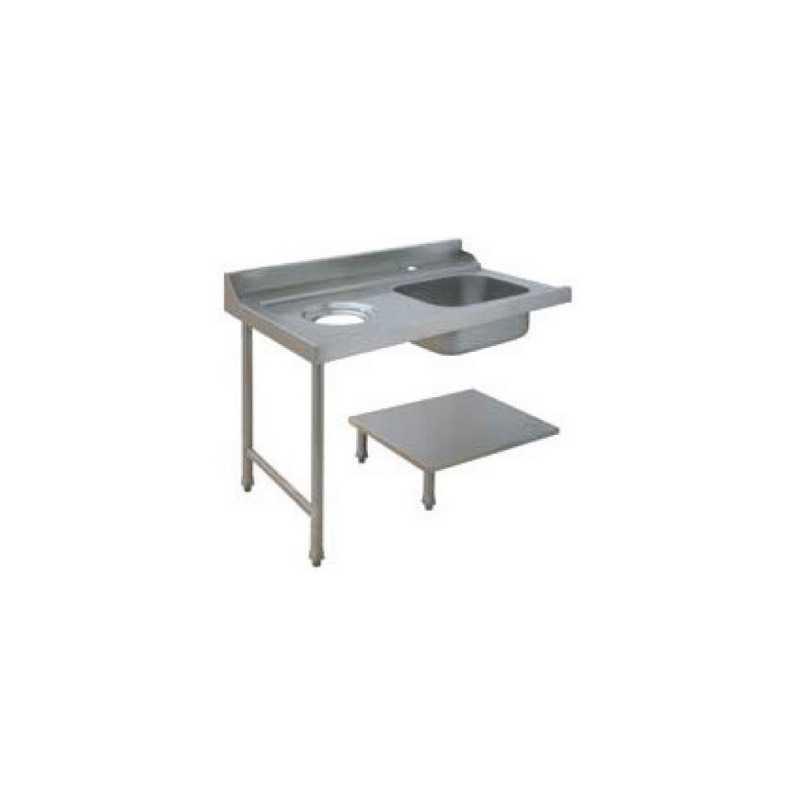 Table de Prélavage pour Lave-Vaisselle À Capot FourniResto - 1