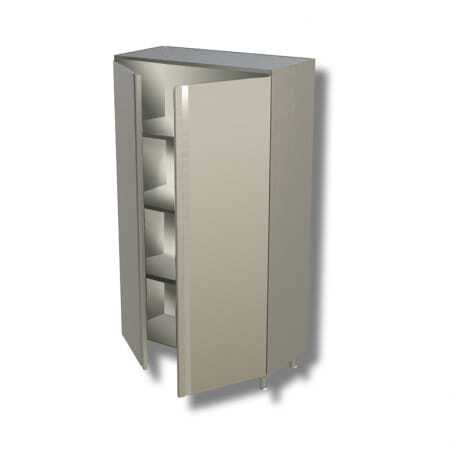 Armoire Inox Haute 2 Portes Battantes - L 800 x P 600 FourniResto - 1