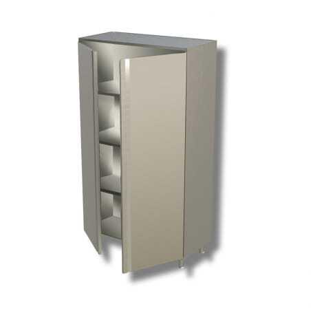 Armoire Inox Haute 2 Portes Battantes - L 800 x P 700 FourniResto - 1