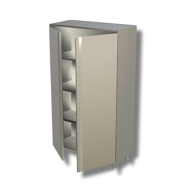 Armoire Inox Haute 2 Portes Battantes x L 1200 x P 700 FourniResto - 1