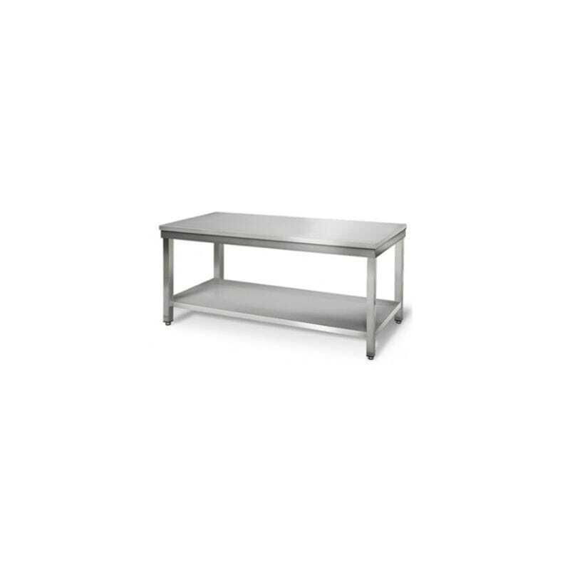 Table Inox avec Etagère Basse - Profondeur 600 FourniResto - 1