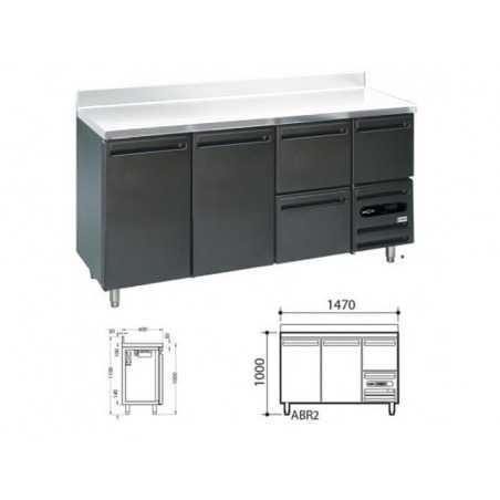 Arrière-Bar Skinplate 3 Portes Sans Dessus - Prof 600 mm FourniResto - 1