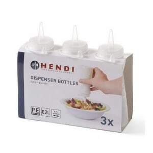Flacon Distributeur de Sauce 60 Cl Easy Squeeze - Lot de 3 HENDI - 1
