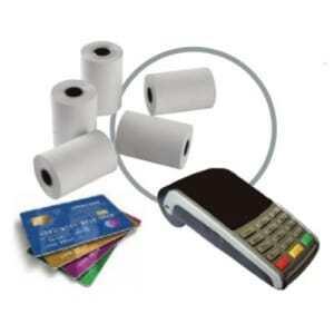 Bobine de Papier Thermique pour TPE Cartes Bancaires - 57 x 60 x 12 mm - Lot de 10 FourniResto - 1