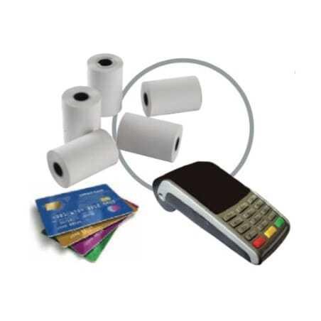 Bobine de Papier Thermique pour TPE Cartes Bancaires - 57 x 65 x 12 mm - Lot de 5 FourniResto - 1