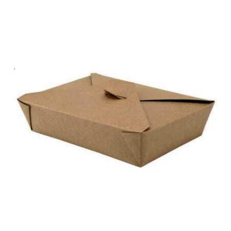 Lot de 200 - Boîte Repas Grand Format - Couvercle 4 Rabats - Ecoresponsable FourniResto - 1