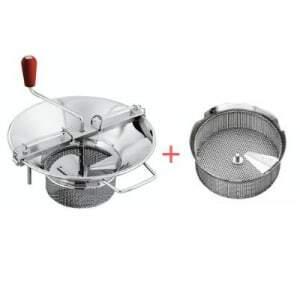 Pack Moulin à Légumes N°5 Acier Etamé - Grille Ø 4 mm Tellier - 1