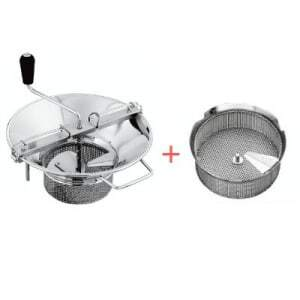 Pack Moulin à Légumes N°5 Inox - Grille Ø 4 mm Tellier - 1