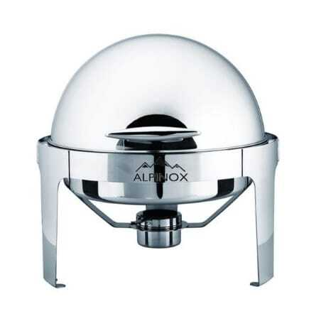 Chafing Dish Rond à Couvercle Rabattable - LUXE Alpinox - 1