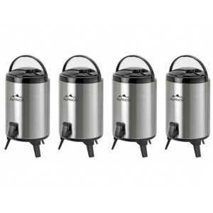 Lot de 4 Distributeurs de Boissons Isotherme - 9 Litres Alpinox - 1