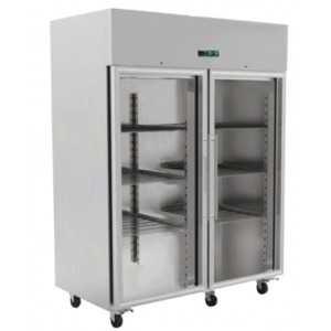 Armoire Réfrigérée Positive 2 Portes Vitrées GN2/1 - 1400 L FourniResto - 1