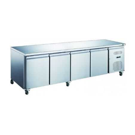 Table Réfrigérée Positive 4 Portes - Profondeur 600 FourniResto - 1
