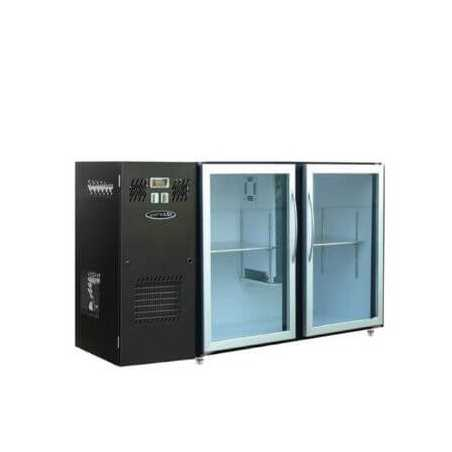 Arrière-Bar Réfrigéré Skinplate - 2 Portes Vitrées Larges FourniResto - 1