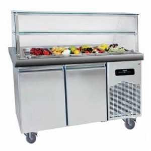 Buffet Réfrigéré Inox 4 Bacs avec Desserte Réfrigérée - 2 Portes GN 1/1 MultiGroup - 1