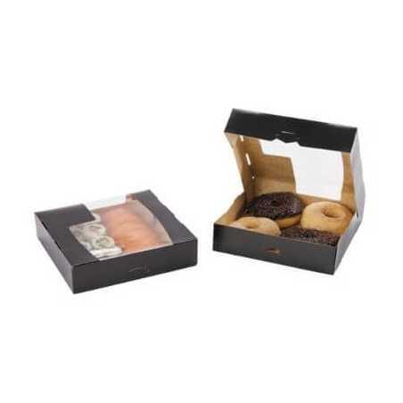 Boîte en Carton Noir Avec Fenêtre 25 x 25 x 45 cm - Lot de 50 FourniResto - 1