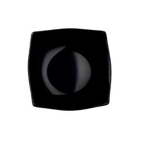 Assiette Creuse Noire 246 x 246 mm - Lot de 24 FourniResto - 1