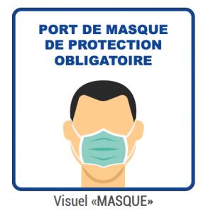 """Panneau d'Information """"Masque"""" - Lot de 5 FourniResto - 1"""