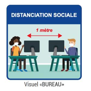 "Panneau d'Information ""Bureau"" - Lot de 5 FourniResto - 1"