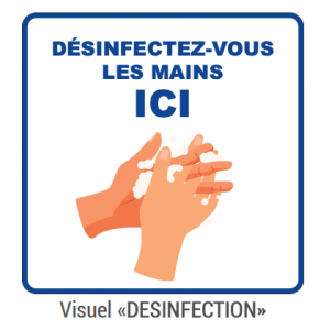 "Panneau d'Information ""Désinfection"" - Lot de 5 FourniResto - 1"