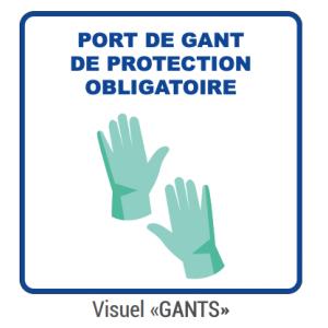 """Panneau d'Information """"Gants"""" - Lot de 5 FourniResto - 1"""