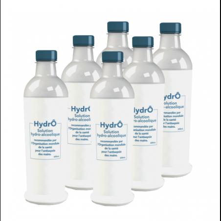 Solution Hydro-Alcoolique en Bouteille - Lot de 6 x 600 ml FourniResto - 1