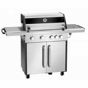 Barbecue Professionnel sur Roulettes - 5 Brûleurs Bartscher - 1