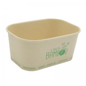 """Barquette Bambou Micro Ondable """"Je Suis en Bambou"""" - 100 cl - Lot de 50 FourniResto - 1"""