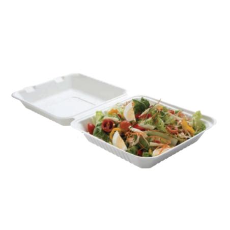 Lunch Box Bagasse 1 Compartiment - Lot de 50 FourniResto - 1