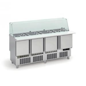 Saladette de Préparation Réfrigérée 4 Portes - 700 FourniResto - 1