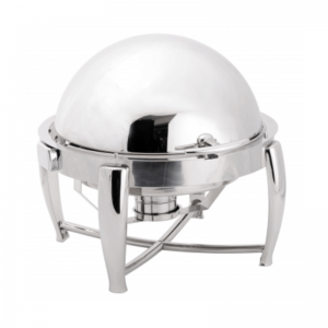 Chafing Dish Rond à Couvercle Rabattable - LUXE FourniResto - 1